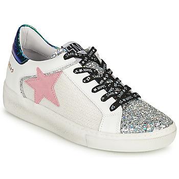 Cipők Női Rövid szárú edzőcipők Semerdjian CARLA Ezüst / Fehér / Zöld
