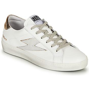 Cipők Női Rövid szárú edzőcipők Semerdjian CATRI Fehér / Arany