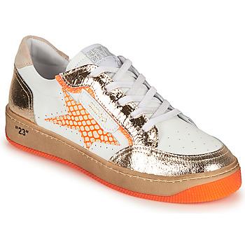 Cipők Női Rövid szárú edzőcipők Semerdjian ARTO Fehér / Narancssárga