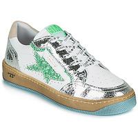 Cipők Női Rövid szárú edzőcipők Semerdjian ARTO Fehér / Ezüst / Zöld