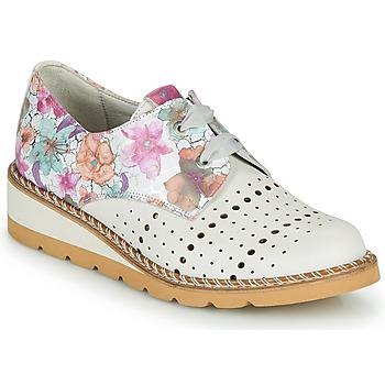 Cipők Női Oxford cipők Dorking TETRIS Fehér / Sokszínű