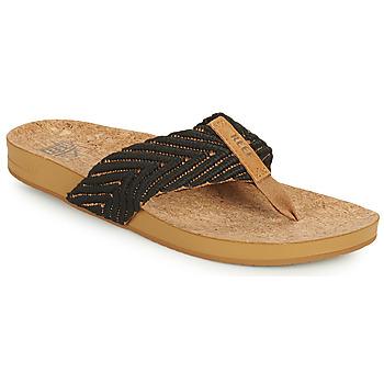 Cipők Női Lábujjközös papucsok Reef REEF CUSHION STRAND Fekete