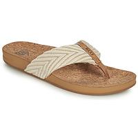 Cipők Női Lábujjközös papucsok Reef REEF CUSHION STRAND Fehér