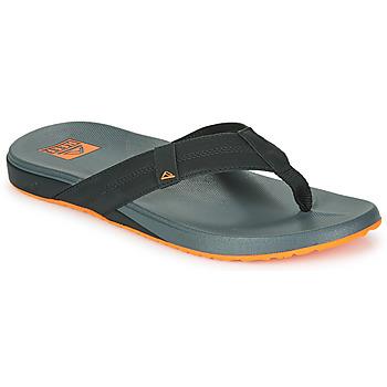 Cipők Férfi Lábujjközös papucsok Reef CUSHION PHANTOM Fekete  / Narancssárga