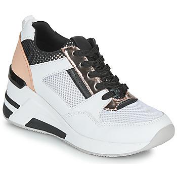 Cipők Női Rövid szárú edzőcipők Tom Tailor JISEL Ezüst
