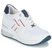 Cipők Női Rövid szárú edzőcipők Tom Tailor JISEL Fehér