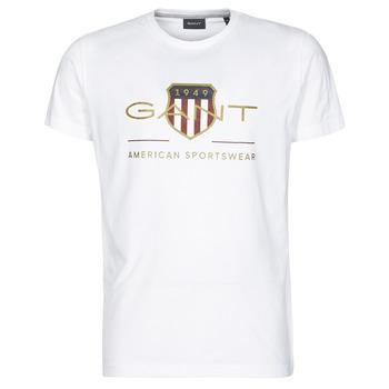 Ruhák Férfi Rövid ujjú pólók Gant ARCHIVE SHIELD Fehér