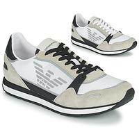 Cipők Férfi Rövid szárú edzőcipők Emporio Armani EMPAGNO Fehér