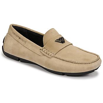 Cipők Férfi Mokkaszínek Emporio Armani ITOLIA Bézs