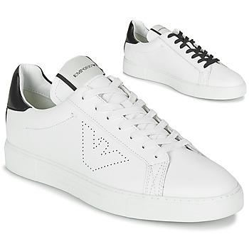 Cipők Férfi Rövid szárú edzőcipők Emporio Armani BELGA Fehér