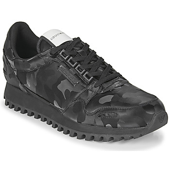 Cipők Férfi Rövid szárú edzőcipők Emporio Armani AUTRIA Fekete