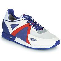 Cipők Férfi Rövid szárú edzőcipők Emporio Armani EA7 SAPONI Fehér / Kék / Piros