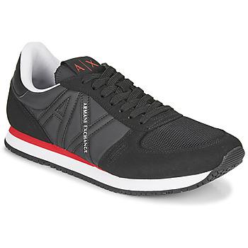 Cipők Férfi Rövid szárú edzőcipők Armani Exchange ESPACIA Fekete  / Piros