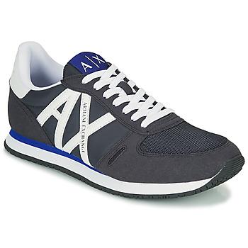 Cipők Férfi Rövid szárú edzőcipők Armani Exchange ESPACIA Kék / Tengerész