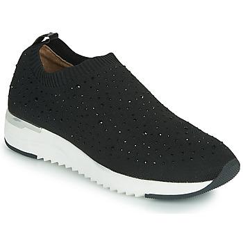 Cipők Női Rövid szárú edzőcipők Caprice 24700 Fekete
