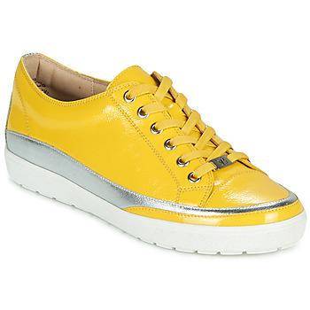 Cipők Női Rövid szárú edzőcipők Caprice 23654-613 Citromsárga / Ezüst