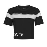 Ruhák Női Rövid ujjú pólók Emporio Armani EA7 3KTT05-TJ9ZZ-1200 Fekete  / Fehér