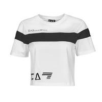 Ruhák Női Rövid ujjú pólók Emporio Armani EA7 3KTT05-TJ9ZZ-1100 Fehér / Fekete