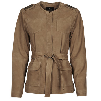Ruhák Női Bőrkabátok / műbőr kabátok One Step DITA Konyak
