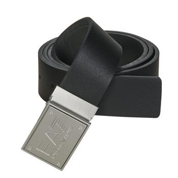 Textil kiegészítők Övek Emporio Armani EA7 TRAIN CORE ID U BELT Fekete  / Megfordítható / Szürke