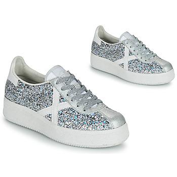 Cipők Női Rövid szárú edzőcipők Munich BARRU SKY 65 Ezüst / Fehér