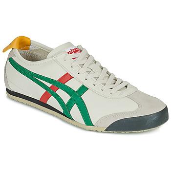 Cipők Rövid szárú edzőcipők Onitsuka Tiger MEXICO 66 Fehér / Zöld / Piros