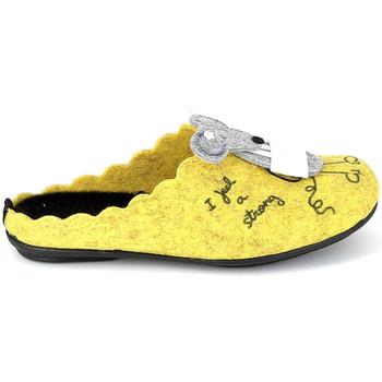 Cipők Mamuszok La Maison De L'espadrille Mule Souris Jaune Citromsárga