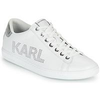 Cipők Női Rövid szárú edzőcipők Karl Lagerfeld KUPSOLE II KARL PUNKT LOGO LO Fehér