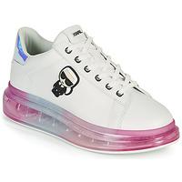 Cipők Női Rövid szárú edzőcipők Karl Lagerfeld KAPRI KUSHION KARL IKONIC LO LACE Fehér / Sokszínű