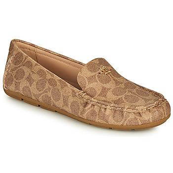 Cipők Női Mokkaszínek Coach MARLEY DRIVER Barna