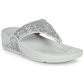 Cipők Női Lábujjközös papucsok FitFlop LULU GLITTER Ezüst