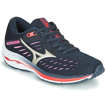 Cipők Női Futócipők Mizuno WAVE RIDER 24 Lila / Rózsaszín