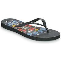 Cipők Női Lábujjközös papucsok Desigual FLIP FLOP BUTTERFLY Fekete