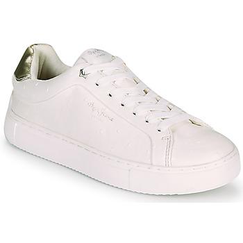 Cipők Női Rövid szárú edzőcipők Pepe jeans ADAMS MOLLY Fehér / Arany