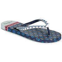 Cipők Női Lábujjközös papucsok Pepe jeans RAKE DANI Tengerész