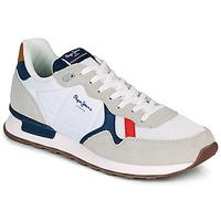 Cipők Férfi Rövid szárú edzőcipők Pepe jeans BRITT MAN BASIC Fehér / Bézs