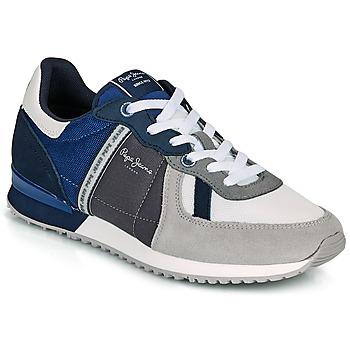 Cipők Férfi Rövid szárú edzőcipők Pepe jeans TINKER ZERO 21 Szürke / Kék
