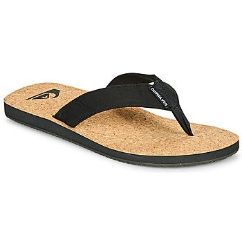 Cipők Férfi Lábujjközös papucsok Quiksilver MOLOKAI ABYSS NATURAL Fekete