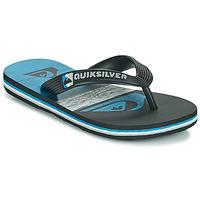 Cipők Gyerek Lábujjközös papucsok Quiksilver MOLOKAI PANEL YOUTH Fekete  / Kék