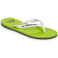 Cipők Férfi Lábujjközös papucsok Quiksilver MOLOKAI Zöld / Fehér