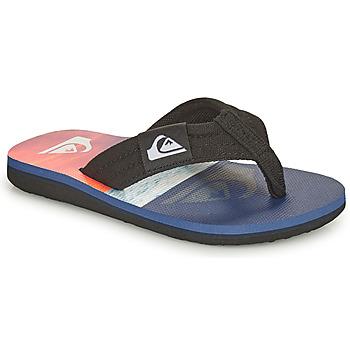 Cipők Gyerek Lábujjközös papucsok Quiksilver MOLOKAI LAYBACK YOUTH Kék / Narancssárga / Fekete
