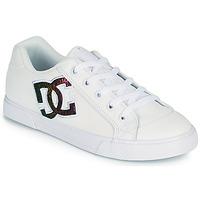 Cipők Női Deszkás cipők DC Shoes CHELSEA J Fehér / Rózsaszín