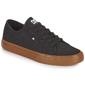 Cipők Férfi Deszkás cipők DC Shoes MANUAL Fekete  / Gumi