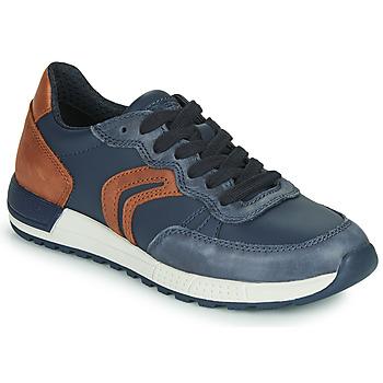 Cipők Fiú Rövid szárú edzőcipők Geox J ALBEN BOY Kék