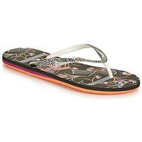 Cipők Női Lábujjközös papucsok Roxy PORTOFINO III Fekete  / Nyomtatott