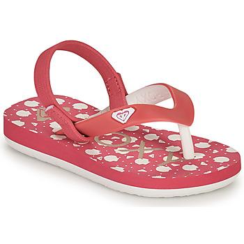 Cipők Lány Lábujjközös papucsok Roxy TW TAHITI VI Rózsaszín