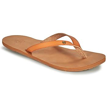 Cipők Női Lábujjközös papucsok Roxy JYLL III Teve