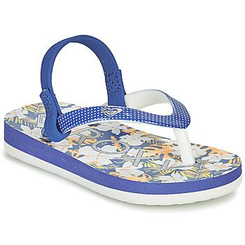 Cipők Lány Lábujjközös papucsok Roxy TW PEBBLES VI Kék