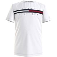 Ruhák Fiú Rövid ujjú pólók Tommy Hilfiger KB0KB06532-YBR Fehér