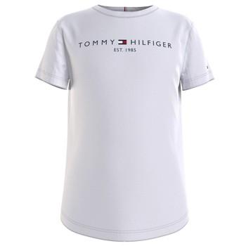 Ruhák Lány Rövid ujjú pólók Tommy Hilfiger KG0KG05242-YBR Fehér